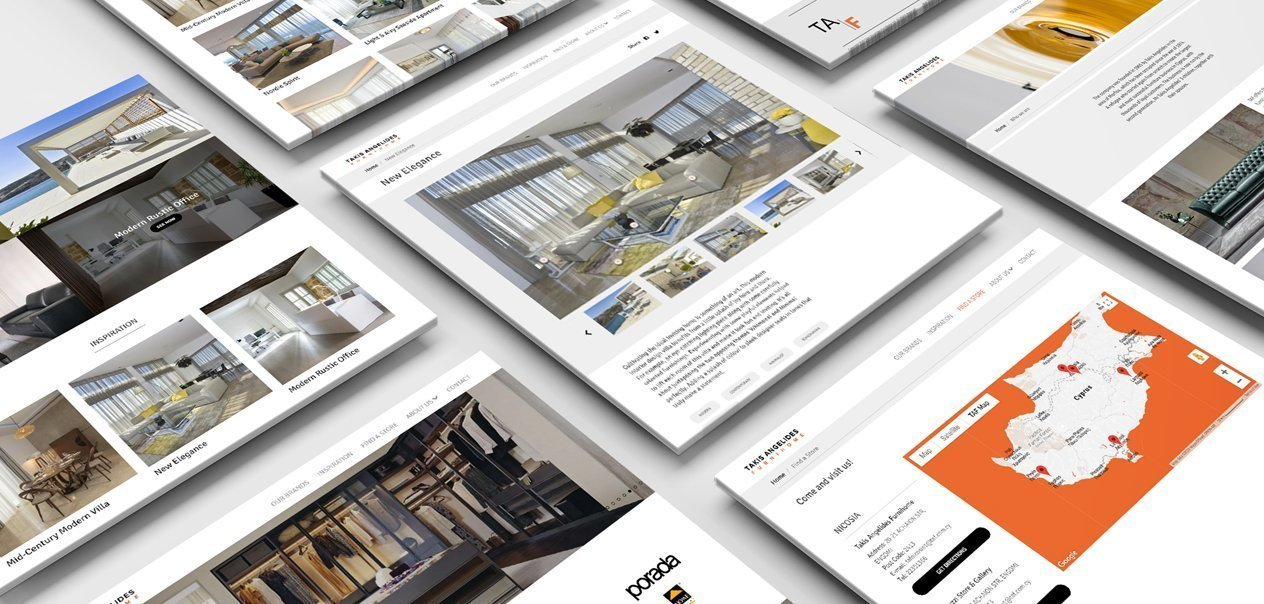 Takis Angelis Furnihome website development by Tabs and Spaces
