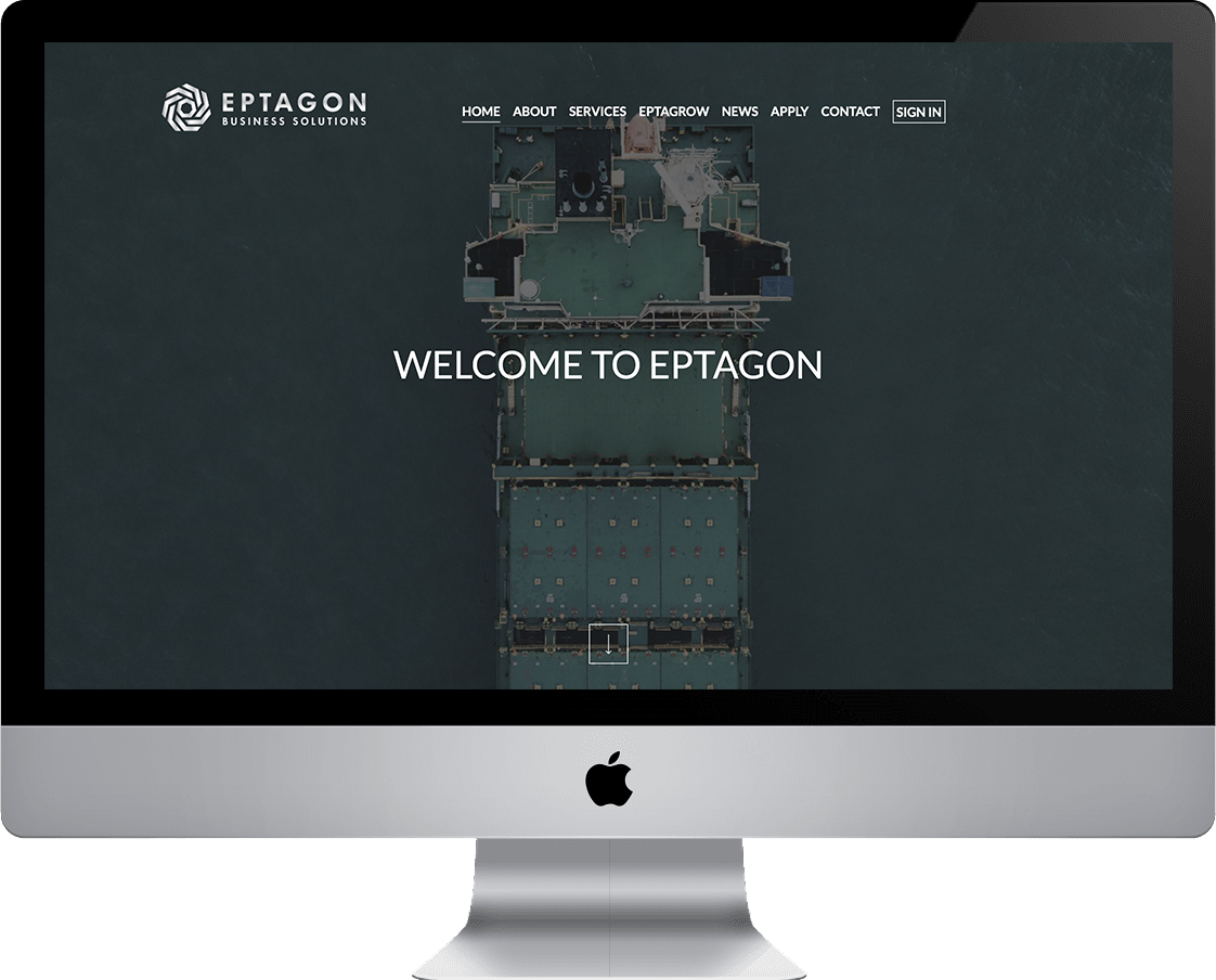 Eptagon Business Solutions website development on Drupal responsive design